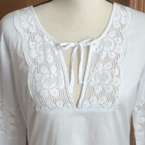 New Lucy White Tunic Top